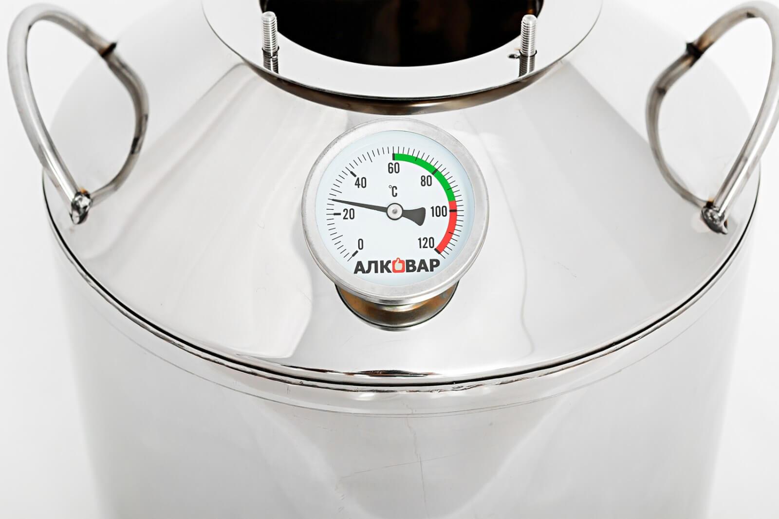 Бимтеаллический термометр на перегонном кубе Компакт