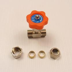 Кран игольчатый, 10 мм в разобранном виде