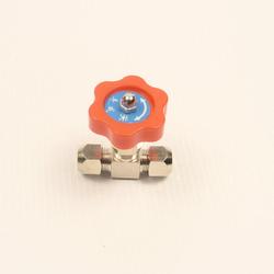 Кран игольчатый, 8 мм, вид сверху