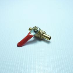 Кран-переходник латунный с штуцерами 8 мм на 8 мм