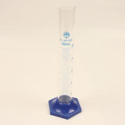 Мерный цилиндр, 50 мл, синее основание