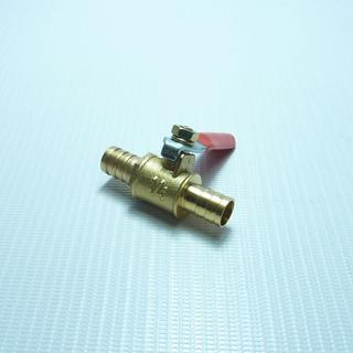 Кран-переходник латунный с штуцерами 10 мм на 10 мм